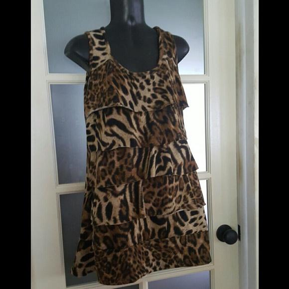 Gina F/S Dresses & Skirts - Gina F/S Animal Print Dress